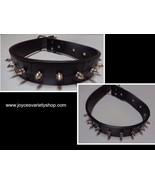 "Dog Collar Large Breed Spike NWT Adjustable Black 24""L x 1.5""W - $11.99"