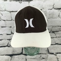 Hurley Logo Mens Sz S-M Hat Black White Panel Fitted Yupoong Baseball Ca... - $9.89
