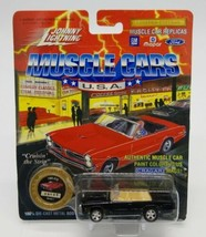 Johnny Lightning 1/64 Muscle Cars USA 1965 Pontiac GTO LTD ED Black Convertible - $11.76