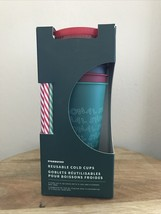 Starbucks Reusable Cold Cups with Lids and Straws - Pack of 5 - $22.67