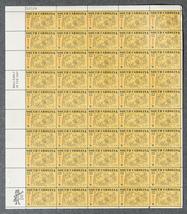 South Carolina Statehood 1670-1970, Sheet of 8 cent stamps, 50 stamps - $7.50