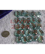 Blue-tinted Glass Futhark Rune Set Wicca Pagan NEW - $4.99