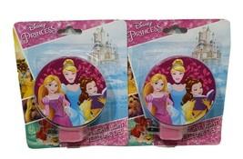 2 Night Light Disney Princess LED Rotary Shade Entrance Hallway Bedroom ... - $12.59