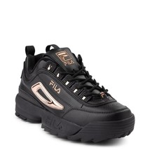 Damen FILA Disruptor II Schwarz Rotgold Athletic Schuhe Neu 2 - $99.86