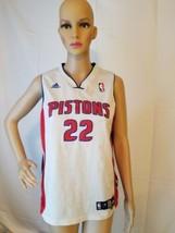 Tayshaun Prince Detroit Pistons Jersey Basketball Stitched Adidas White NBA - $14.69