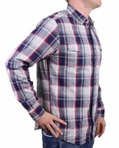 NEW MEN'S DOCKERS CLASSIC FIT CASUAL WOVEN FLANNEL SHIRT PEACOAT 8BW27LK image 4