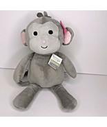 "Bedtime Originals Cupcake Monkey Girl Pink Flower Grey Plush 13"" NEW - $13.48"