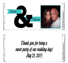 Wedding Bridal Shower YOUR PHOTO Candy Wrappers Party Favors Personalized - $0.99