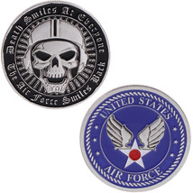 Sir Force Death Smiles At Everyone Air Force Smile Back Challenge Coin - $11.72