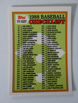 1988 Topps Traded #132T Unmarked Checklist Baseball Card - $1.00