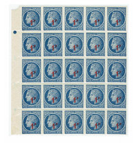 1947 Ceres Block of 25 France Postage Stamps Catalog 589 MNH