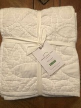 Pottery Barn Washed Cotton King Sham White NWT 36x20  - $40.59