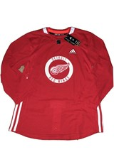 NWT Adidas Detroit Red Wings Climalite Authentic NHL Pro Practice Jersey... - $44.54