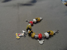 Authentic Pandora bracelet with Disney Mickey Mouse themed beads image 2