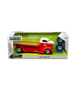 "1947 Ford COE Tow Truck Red with White Top ""Firestone\"" and Extra Wheel... - $42.22"