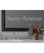 Merry Christmas Holiday Xmas Frosted Etched Glass Vinyl Quote Sticker De... - $10.99+