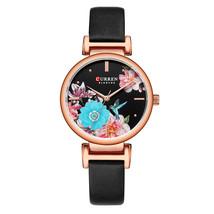Curren Women's Leather Wrist Watch 9053 (Black) - $27.00