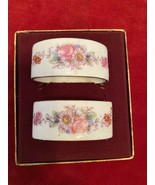 "Royal Crown Derby China 2 porcelain napkin rings,""POSIES"" -pretty - $38.60"