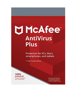MCAFEE ANTIVIRUS PLUS 2020 - 6 Year  1 PC- DOWNLOAD Version Email Delivery - $20.99