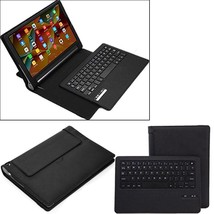Tablet Case Business Portable Bluetooth Keyboard PU Leather Cover Capaci... - $59.99