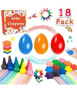 Toddlers Crayons Kids Palm-Grip Crayons 3 Solid Egg/6 Snowflakes/9 Finge... - $20.62