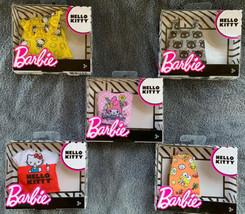 2018 Barbie Hello Kitty Fashion Clothes Set Of 5 NEW - $24.99