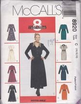 McCalls 8920 Classic Dress Pattern w/ Collar, Sleeve, Skirt Variations U... - $4.94