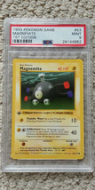 Pokemon Magnemite 53/102 1st Edition Base Set PSA 9 1999 Pokemon Game Shadowless - $34.99