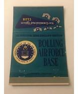 Vintage Matchbook Cover Matchcover US Bolling Air Force Base Washington DC - $4.28