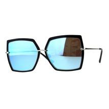 Womens Fashion Sunglasses Square Double Frame Designer Style Shades - $11.95