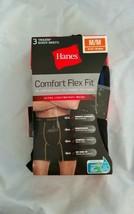 Hanes Men's Comfort Flex Fit Ultra Lightweight Mesh Black 3pk Boxer Brie... - $14.01