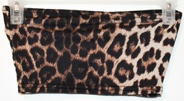 Pretty Little Thing Women's Leopard Animal Print Cropped Boob Tube Top Size 2 image 2