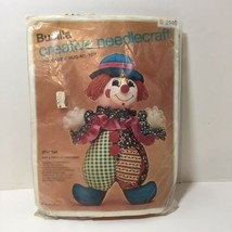 "Chuckles Hug Me Toy Kit Bucilla Stuffed Clown 17.5"" tall  - $9.74"