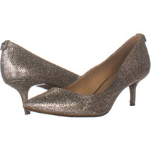 Michael Kors 9876 Pointed Toe Kitten Heels, Gold Glitter 686, Gold Glitt... - $51.83
