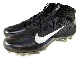 Nike Vapor Untouchable 2 Football Cleats SZ 11.5 Mens Black Silver - $37.39