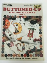 Leisure Arts Leaflet 2570 Buttoned-Up for Holidays Book 5 Cross Stitch P... - $3.00