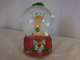 Disney Store Exclusive Christmas Tinkerbell Light Up Snow Globe Works Great 2004 - $21.79