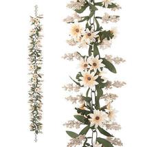 Darice Artificial Daisy Garland in Cream, 6 feet w - $24.99