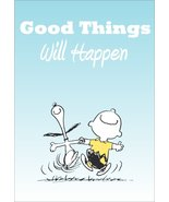 """Snoopy And Charlie Brown Peanuts """"Good Things Will Happen"""" Stand-Up Display - $15.99"""