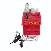2004 SNOOPY Red Dog House PEANUTS Decorative Lamp Night Light Popcorn Pl... - $24.49