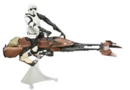 Star Wars The Black Series Speeder Bike Vehicle with Biker Scout Figure ... - $59.99