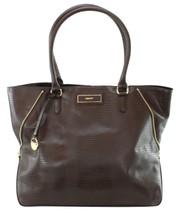 DKNY Donna Karan Burgundy Lizard Print Leather Tote Bag Large Handbag RRP £375 - $281.65