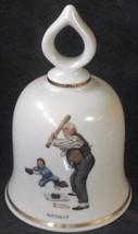 Batter Up, Norman Rockwell - September 1979 Danbury Mint Collectible Bell COA - $26.72