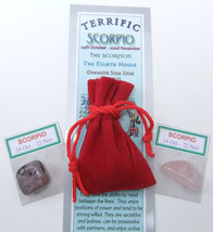 SCORPIO - Bookmark & Birthstones - plus a Red Velvet pouch and my book '... - £3.02 GBP