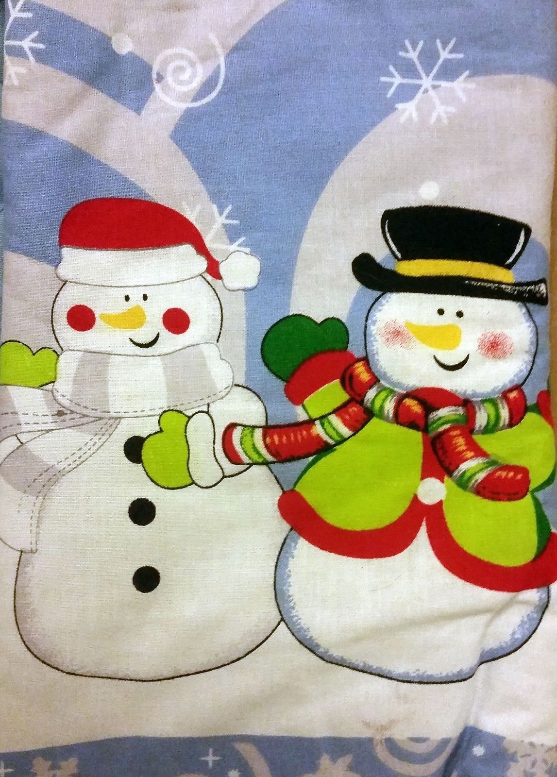 "Oversized Printed Kitchen 14.5"" Oven Mitt, WINTER, CHRISTMAS, 2 SNOWMEN"