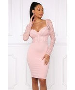 Romantic Sweetheart Neckline Powder Pink Bodycon Party Dress, S, M or L - €37,92 EUR