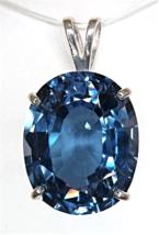 Superb Oval London Blue Topaz / Sterling Silver Pendant from KT Elegant Jewelry - $109.95