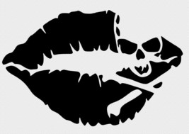 Skull & Lips Wall Car Glass Window Laptop Vinyl Decal Free Gift With Purchase - $6.00+