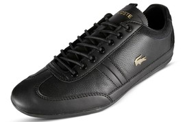 Lacoste Misano 119 2 U CMA Men's Casual Leather Sneakers Black 7-37CMA00... - $100.00