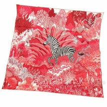Hermes Scarf Mountain Zebra by Alice Shirley 90 cm Silk Rose animal Carr... - $691.02